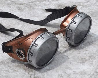 Steam Punk Goggles, Steampunk Goggles, Steampunk, Goggles, Aviator Goggles, Motorcycle, Copper Goggles, Sunglasses, Fallout Cosplay, Fallout