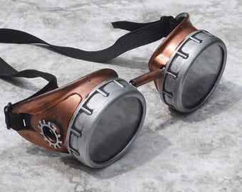 Steam Punk Goggles, Steampunk Goggles, Steampunk, Goggles, Aviator Goggles, Motorcycle, Copper Goggles, Sunglasses, Fallout Cosplay, Fallout