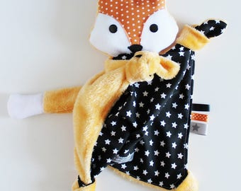 Fox body flat knotted minkee and cotton plush toy.  To order.