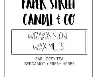 Wizards Stone Wax Melts | geode wax melts | wizardy wax melts | wax melts | early grey tea