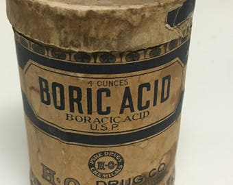 Vintage Boric Acid, Medicine, Suppositories, Pest Control, Cleaning Supplies