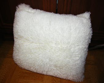 White Soft Faux Fur Pillowcase or Pillow
