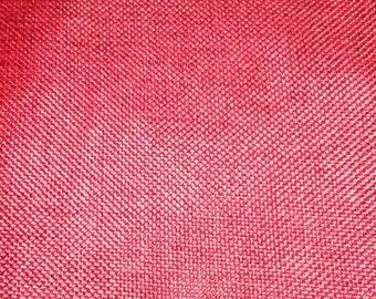 Red burlap fabric