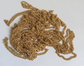 5m/lot Plated Necklace Chains Brass Bulk for Jewelry Making (238)