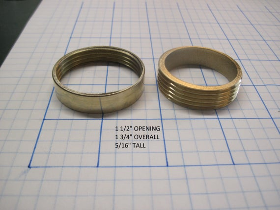 "Threaded Brass Inserts 1 1/2"" Opening Straight Sides"