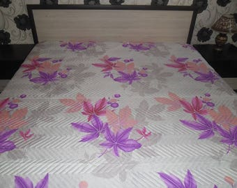 Luxurious quilted bed cover from cotton for bedroom-CAN BE USED from both sides