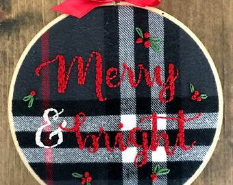Merry & Bright: Plaid Embroidery Hoop