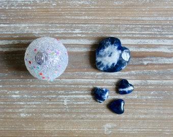 Sodalite, Crystal Heart, Sagittarius Birthstone, Throat Chakra, Crystals, Crystal Healing, Blue Heart, Believe In Yourself, Friendship Gift.