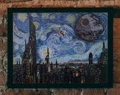 """STAR WARS Van Gogh """"A Starry Wars Night"""" Art Print - Painting, Home Decor, Pop Art, Gift for Her, Gift for Home, Wall Art, Gift for Him"""