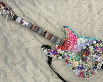 Fender Guitar Embellished in Jewelry