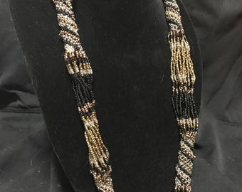 Hand Beaded Multi-Strand Necklace