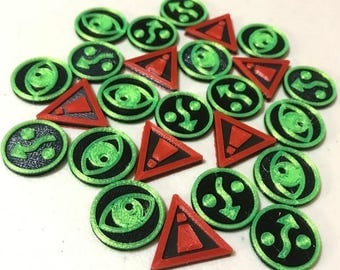 3D Printed X-wing Miniatures Game Tokens (4 tokens)