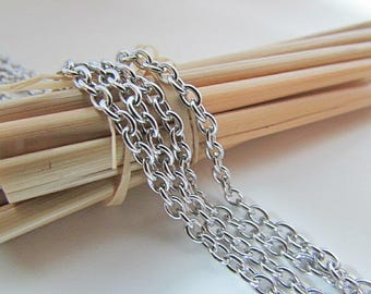 3 m chain stainless steel - link 3 x 2 mm - ref 56.50