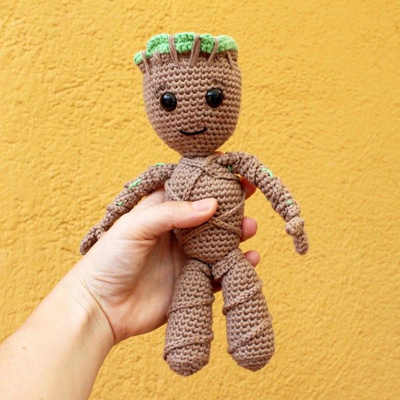Amigurumi Patterns Groot : Baby groot soft toys amigurumi pattern pdf