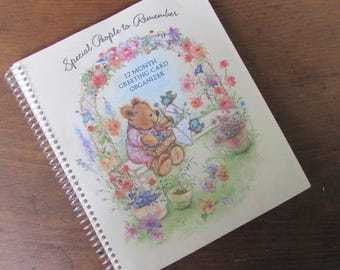 Hallmark Greeting Card Organizer Special People To Remember 12 Month