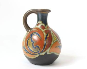 Gouda Pottery, Gouda Vase, Verat Design Circa 1926, Art Nouveau Pottery, Arts and Crafts, Signed Gouda