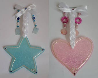 Hand made personalised pram charms