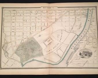 Vintage philadelphia map Etsy