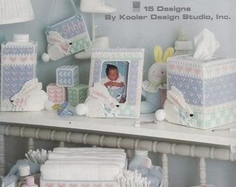 Bunnies for Babies, Leisure Arts Bunny Nursery Plastic Canvas Pattern Booklet 1424