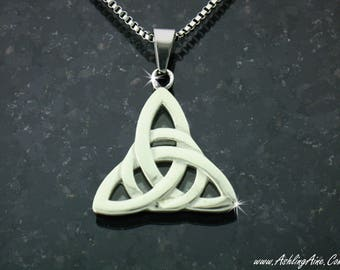 Modern Trinity Necklace, Celtic Necklace, Trinity Knot Pendant, Tribal Necklace, Silver Trinity Pendant, Celtic Knot Necklace