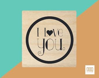 I Love You - 3cm Rubber Stamp (DODRS0100)