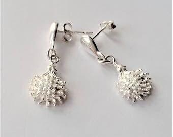 Sterling Silver Earrings, Stud Earrings, Dangle Earrings, Small Earrings, Charm Earrings, Minimalist Style.