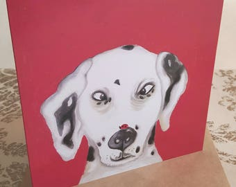 Dalmation dog  Greetings Card