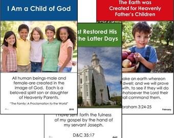 DIGITAL 2018 Primary Theme 13-poster set (DOWNLOAD) LDS - I Am a Child of God