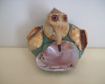 Seashell Art Jewelry/Candy Holder St. Augustine Fla. Souvenir 1946