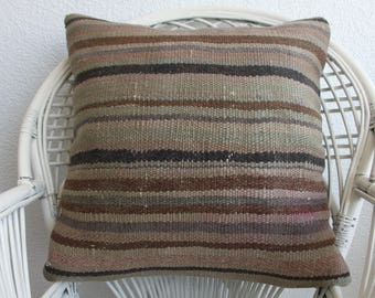 24x24 turkish kilim pillow decorative kilim pillow 24x24 striped kilim pillow ethnic pillow bohemian kilim pillow cushion cover 791