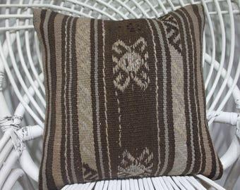 40 x 40 cm 16x16 bolster pillow cover kilim pillow embroidered pillow cover turkish pillow bohemian throw naturel pillows