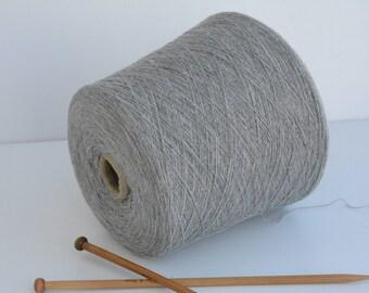 Wool yarn Grey on cone 680gr / 23,98 Oz // NM 15/1 , Spool yarn, Machine yarn, Cone Yarn, Thread yarn, knitwear Yarn