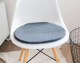 sitzkissen fr eameschair aus einem wunderschnem grauen designerstoff limitiert - Eames Chair Sitzkissen