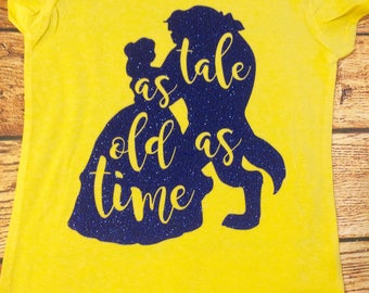 Girls Belle Shirt, Belle Shirt, Tale as Old as Time, Tale as Old as Time Shirt, Beauty and the Beast Shirt, Beauty and the Beast