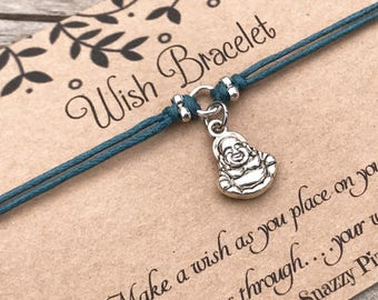 Buddha Wish Bracelet, Make a Wish Bracelet, Wish Bracelet, Friendship Bracelet, Lucky Bracelet, Yoga Bracelet, Gift for Her, Favour Gift