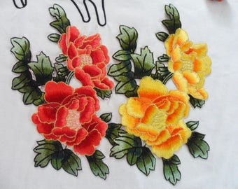 Free shipping P252 1Pc big Flower    Embroidery Patches Patches sew on or iron on applique patch P252