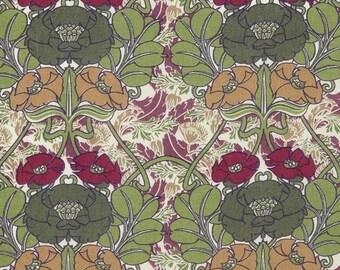 LIBERTY® fabric print Jugenstil vert 3166D / 10 cm