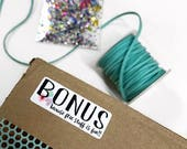 Bonus - Because free stuff is fun - Swag stickers - small business supplies