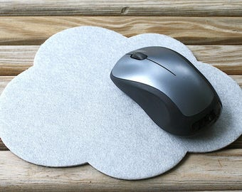 Cloud Vegan Friendly Felt Mouse Pad 4mm Thick Computer Mousepad Cute Office Cubicle Decor