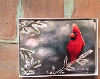 Cardinal Winter cards