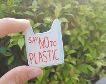 saynotoplastic brooch #5 - disposable shopping bag