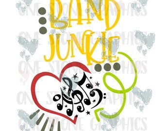 Band junkie svg,music svg,music notes,music notes svg,band svg,band,music svg file,svg,svg file,svg image,trendy,cute svg,kid svg,heart