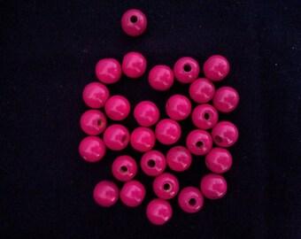 dark pink 30 beads 10mm
