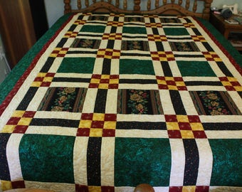 Twin Hand Made Quilt, Handmade Quilted Twin Blanket, Hand-made Quilts, Bedroom Decor, Unique Twin Quilt, Quilted Throw, Home Made Quilt