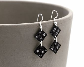 925 Sterling Silver Upcycled Memory Chip Dangle Earrings