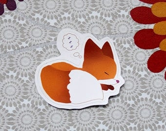 NEW Sleeping fox sticker