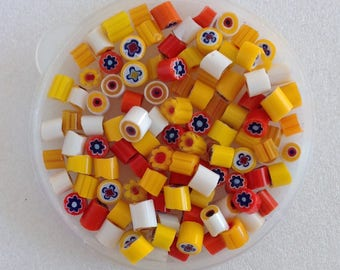 SALE!!! MURANO glass MURRINI - Murrini chips Coe 104 - Millefiori slices - Assorted Mix - Beadmaker - Fused glass