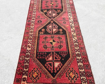"Runner Rugs Vintage Runner Rug Oushak Runner Turkish Runner Rug  Turkish Runners  Rug Runners Home living Rugs  Floor Rugs 39""×114"""
