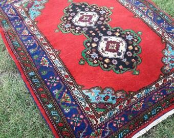 "61""×76"" Bohemian Rug,Boho Rug,Wool Rug, Oushak Rug, Turkish Rug, Handmade Rug, Aztec Rug, Home living, Floor Rugs, Rug, Rugs,"