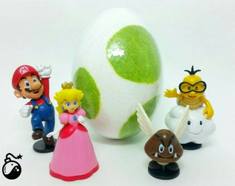 Yoshi Egg Bath Bomb - Super Mario Figure Inside!